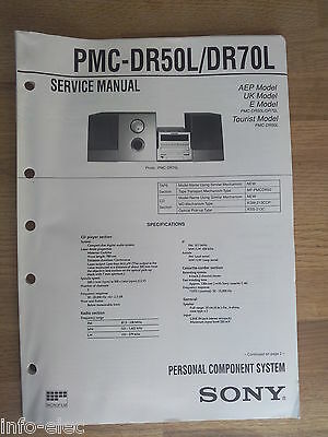 Schema SONY - Service Manual Personal Component System PMC-DR50L PMC-DR70L