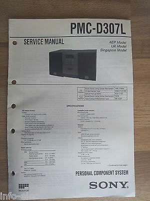 Schema SONY - Service Manual Personal Component System PMC-D307L PMCD307L