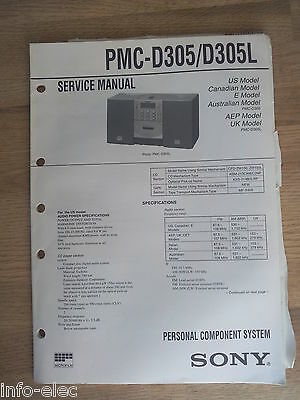 Schema SONY - Service Manual Personal Component System PMC-D305 PMC-D305L