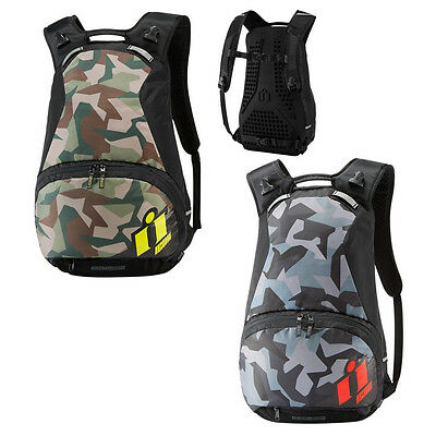 *Fast Shipping* ICON Stronghold Motorcycle Backpack (Hi-Viz or Red)
