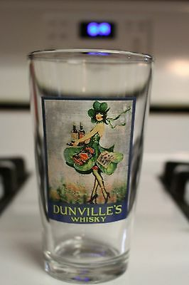 RARE Dunville's Whisky Pint Glass Beer Irish Whiskey Glasses Specialty Brewery