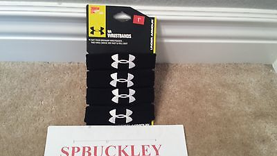 "Under Armour 1"" Performance Wristbands 1235106 001 BLACK , NEW"