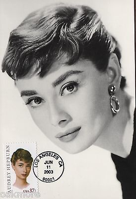 2003 AUDREY HEPBURN Hollywood Movies Classico POST CARD  ~ FIRST DAY CANCELED #1