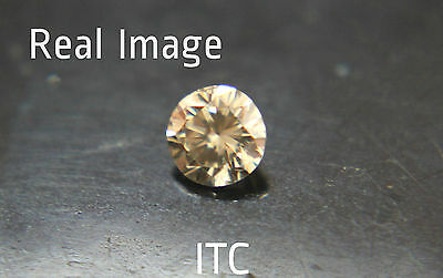 0.25 ct Natural Very Light Champagne Fancy Fiery Firey Loose Color Diamond NR1