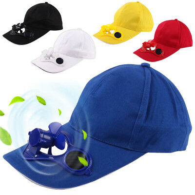 Solar Cap Air Fan Hat Solar Powered Panel Cool Baseball Camping Traveling