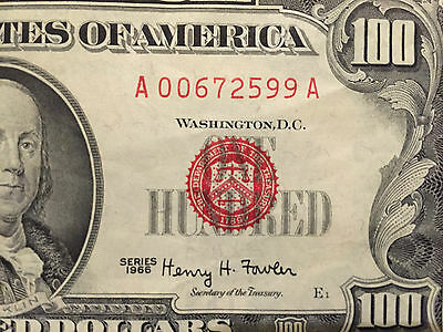 1966 $100 Dollars Legal Tender, Nice Condition
