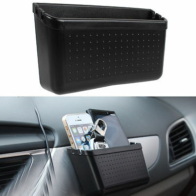 Car Mobile Phone Storage Box Vehicle Charger Cradle Pocket Holder Charging Hole