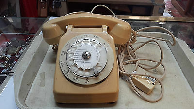 Telephone Vintage A Roulette Beige / Jaune Ref7170