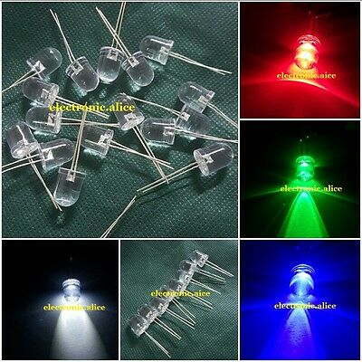 2pin 10mm 0.5W Super Bright High Power LEDs (Red Green Blue White ) 5-100pcs