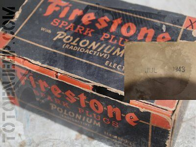 pour puriste uniquement . bougie allumage firestone NOS us ww2 jeep willys gpw