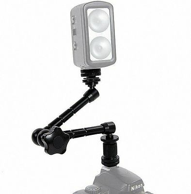 "11"" Universal extend bracket Articulating Arm for Monitor LED light flash DV"