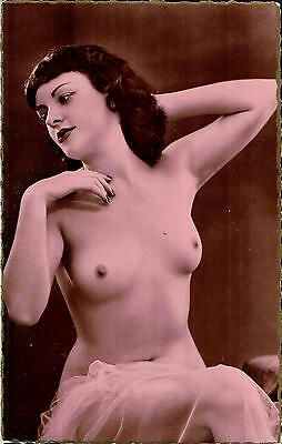 French Risque Nude Lady Postcard - NUDO NU EROTIQUE EROTIC - Rif.127