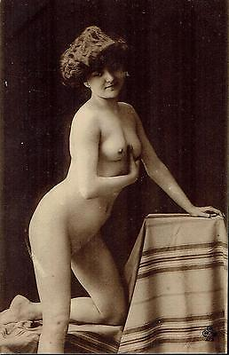 French Risque Nude Lady Postcard - NUDO NU EROTIQUE EROTIC - Rif.135