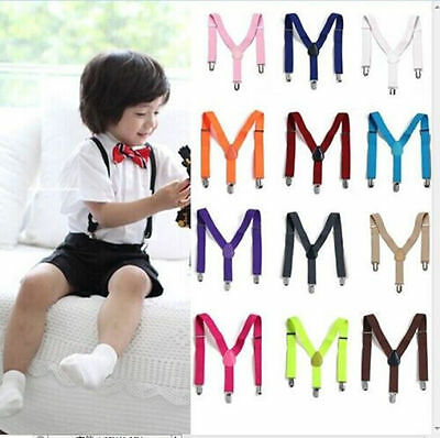 1PC Children Kids Boy Girls Toddler Clip-on Suspenders Elastic Adjustable Braces