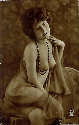 French Risque Nude Lady Postcard - NUDO NU EROTIQUE EROTIC - Rif.149