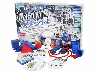 Mystrix Great Magic Set Zaubern Zauberkasten 30 coole Tricks mit DVD wie NEU OVP