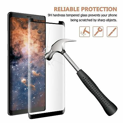 FULL CURVED TEMPER GLASS SCREEN PROTECTOR FOR GALAXY S9 S8 S10 Plus Note 8 9