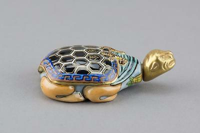 Chinese Porcelain Turtle Snuff Bottle Qianlong Mk