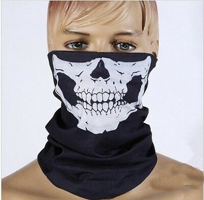 SKELETON GHOST SKULL FACE MASK MOTOR Biker balaclava Bandana NEW cycling