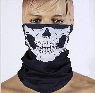 SKELETON GHOST SKULL FACE MASK MOTOR Biker buff balaclava Bandana NEW cycling