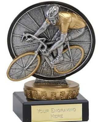 Classic Cycling Trophy in 3 Sizes Free Engraving up to 30 Letters