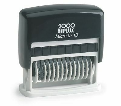 Cosco 13 Band Micro Numbering Stamp, Black Pad