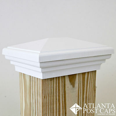 4X6 Post Cap (Nominal) - White Estate Post Caps - 10 Year Warranty