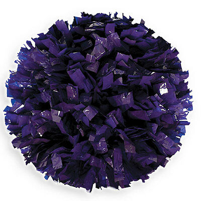 "00034BA One (1) Cheerleading Pom Poms, 6"" Solid Color Wet Look"