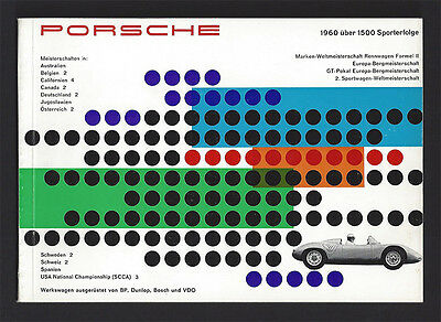 Porsche Successes 1960 Brochure - 1600 RS 60, 718, 356 A Carrera Coupe Speedster