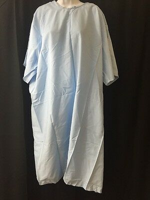 NEW LOT OF 11 UNICOR Short Sleeve Hospital Gowns Blue
