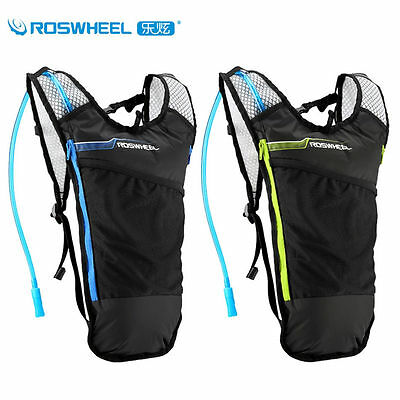 ROSWHEEL Cycling 2L Water Bag Ultralight Backpack+5L Hydration Travel Hiking Bag