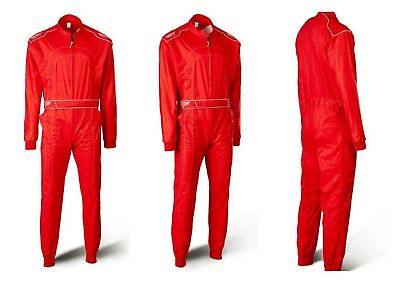 Speed Karting Suit Red/Gray - Single Layer 1-Piece Racing Suit - XXLarge