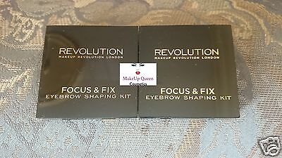 *New Release* Makeup Revolution Focus & Fix Brow Kit 2 Shades FREE 1ST CLASS P&P