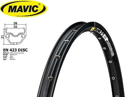2x MAVIC EN423 Disc 29er/700C 32H UST Eyeleted Rim Anodised BLACK