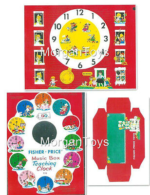 FISHER-PRICE REPLACEMENT LITHOS for #998 Music Box Grandfather Teaching Clock