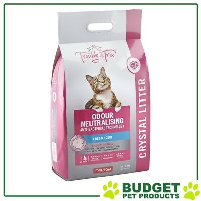 Trouble & Trix Odour Neutralising Anti Bacterial Fresh Scent Crystal Litter 15L