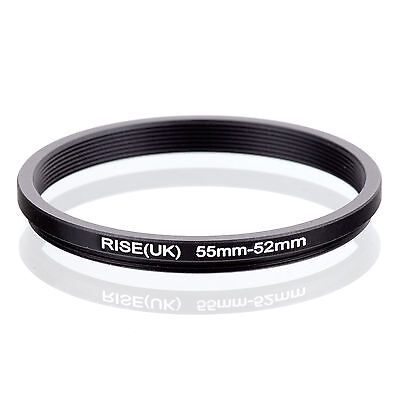 RISE (UK) 55-52MM 55MM-52MM 55 to 52 Step Down Ring Filter Adapter