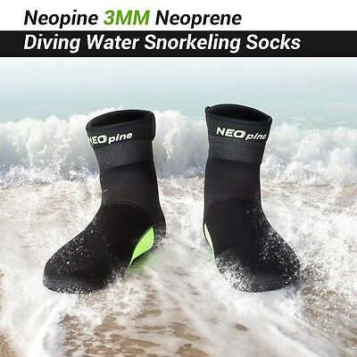3mm Neoprene Socks Fishing Boots Diving Water Sports Snorkeling Boots-S M L XL