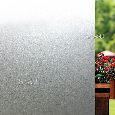 90cm x 3m Sand Blast Clear Frosted Frosting Removable Privacy Window Glass Film