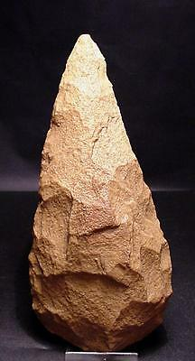 SUPERB acheulian POINTED handaxe !! 7.48 inches !!