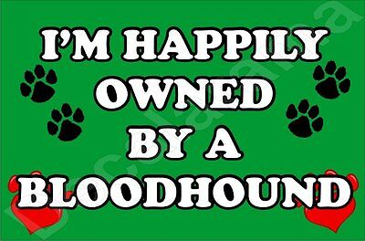 I'm Happily Owned By A Bloodhound Jumbo Fridge Magnet Gift/Present Dog