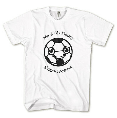 Me And My Daddy Support (Football Team) Unisex Kids Tshirt