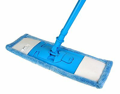 Extendable Microfibre Mop Cleaner Sweeper Wooden Laminate Tile Floor Wet Dry