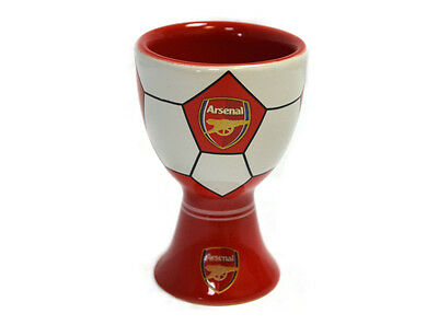 Arsenal FC Football Club Ceramic Egg Cup Badge Crest White Red Official Licensed