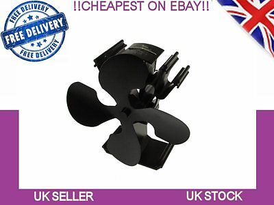 Heat powered eco wood stove fan 4 blades with temperature regulation voda
