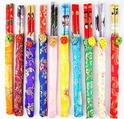 NEW 1 Pair of Chinese Japanese Oriental Elegant Dining Chopsticks With Gift Bag