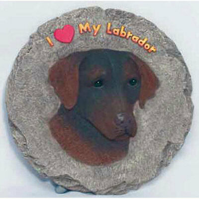 Chocolate Labrador Retriever Stepping Stone