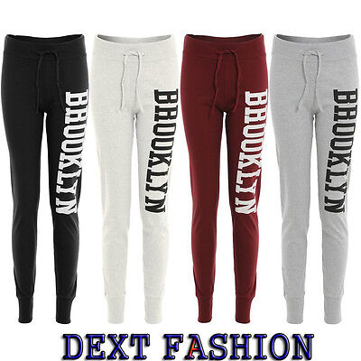 Ladies Brooklyn Jogging Bottoms Track Pants Gym Trousers Plus Sizes 8 - 22