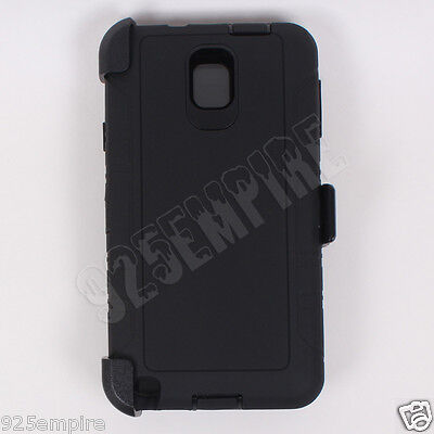 for Samsung Galaxy Note 3 Black Case Cover (Belt Clip Fits OtterBox Defender)