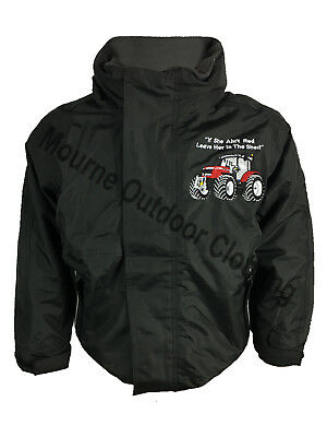 New Kids Regatta Massey Ferguson Tractor Logo Waterproof Jacket Windproof Coat